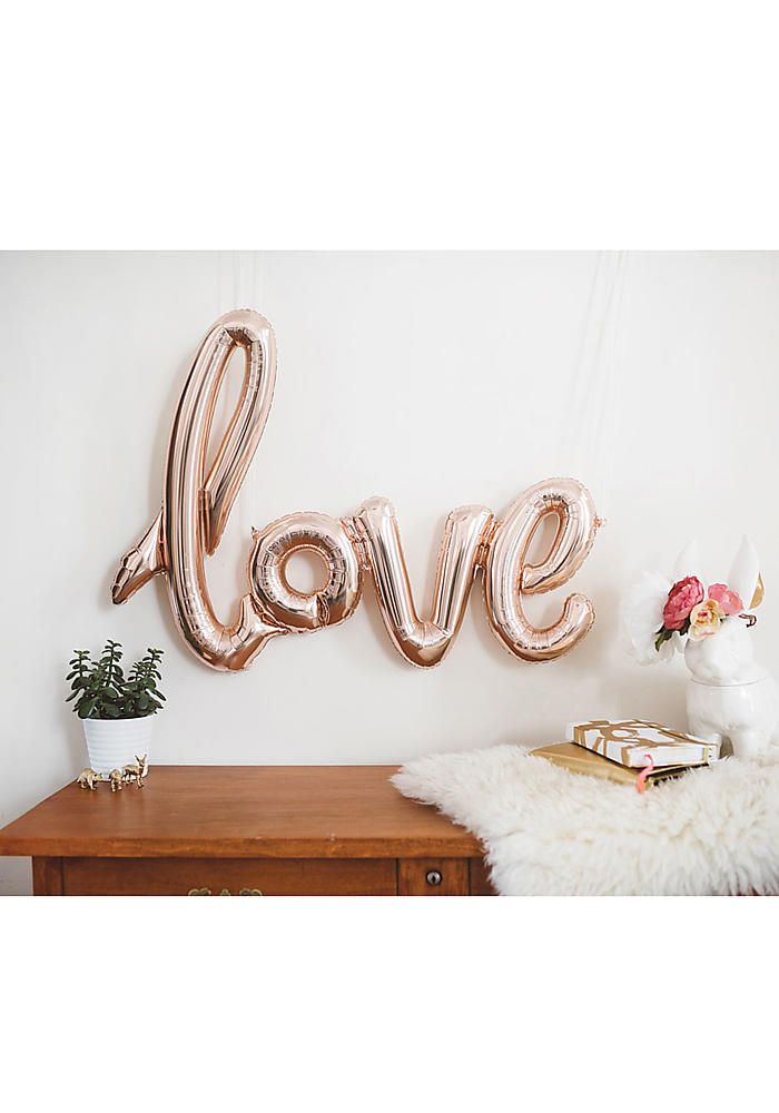 3c7d7c9bac38 Buy Love Script Foil Balloon - Rose Gold from Tiger Feet Party. Love Script Foil  Balloon - Rose Gold Make a big statement with this beautiful script