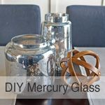 DIY Mercury Glass Hurricane Candle Holders   Teal and Lime