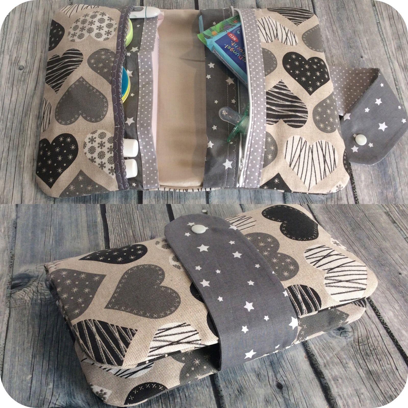 windeltasche xxl reissverschluss sterne herzen wickeltasche unikat geschenk baby windeltasche. Black Bedroom Furniture Sets. Home Design Ideas