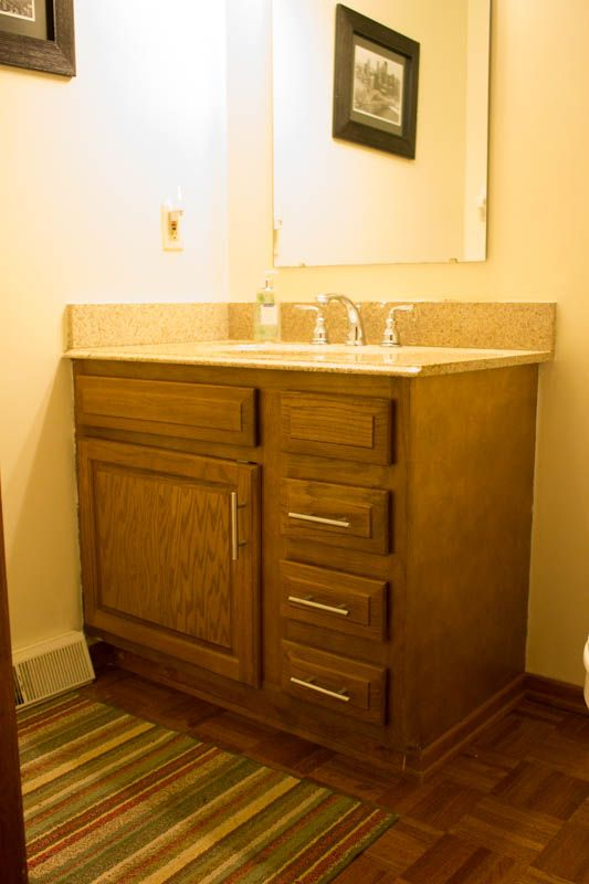 Restaining Bathroom Cabinets with Water Based Wood Stain | Bathroom cabinets Water based wood stain and Wood stain & Restaining Bathroom Cabinets with Water Based Wood Stain | Bathroom ...