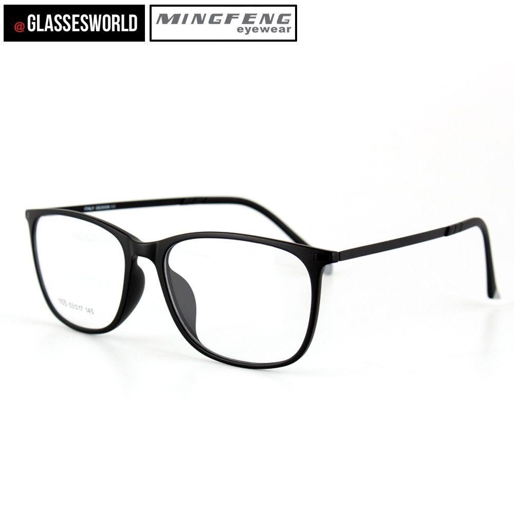 Men's Eyewear Frames Original Quality Ultra Light Ultem Carbon Fiber Tungsten Optical Myopia Glasses Frame Men Women Unisex Square Eyewear Blue Green Leg Men's Glasses