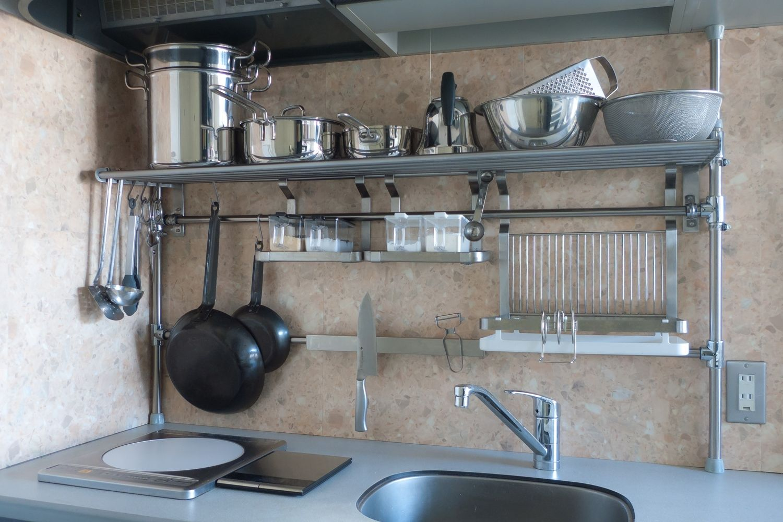 Kitchen Stainless Steel Floating Shelves Kitchen Beadboard