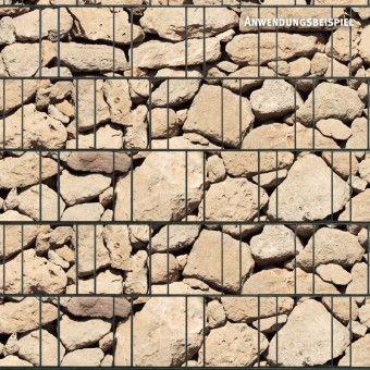 Sichtschutzstreifen bedruckt, Motiv Naturstein