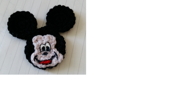 Micky Maus Applikation | Häkeln | Pinterest | gehäkelte Blumen ...