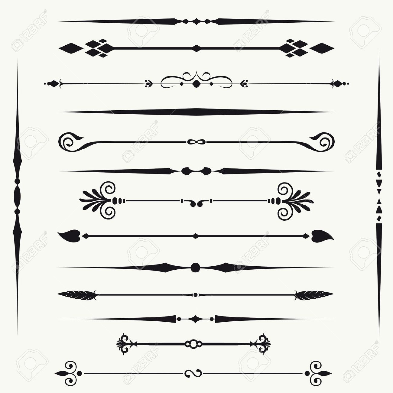 Borders And Elements For Design Royalty Free Cliparts, Vectors, And Stock  Illustration. Pic