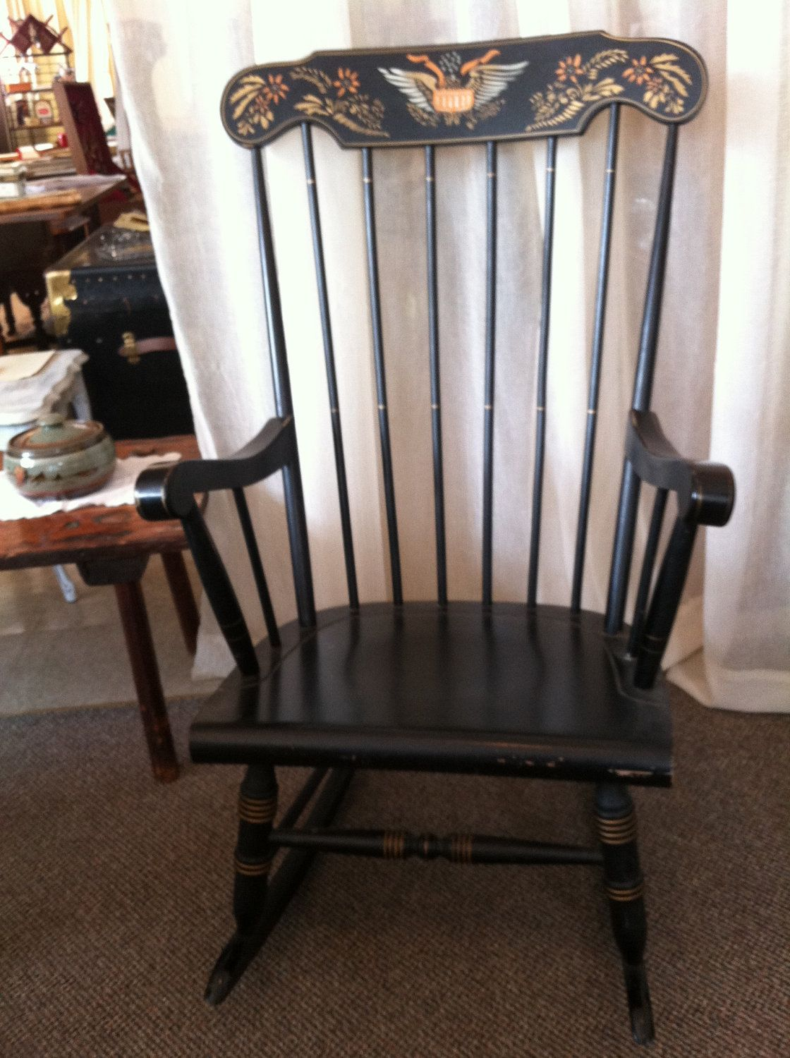 Early American Chair Styles Boon High Replacement Straps Style Rocking Sale Pending Craft Ideas Rocker 95 00 Via Etsy