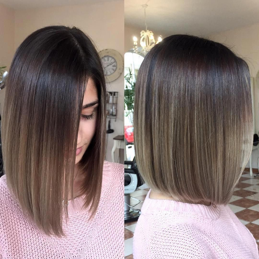 Black Straight Balayage Blackstraightbalayage Ombre Hair Blonde Medium Hair Styles Brown Ombre Hair