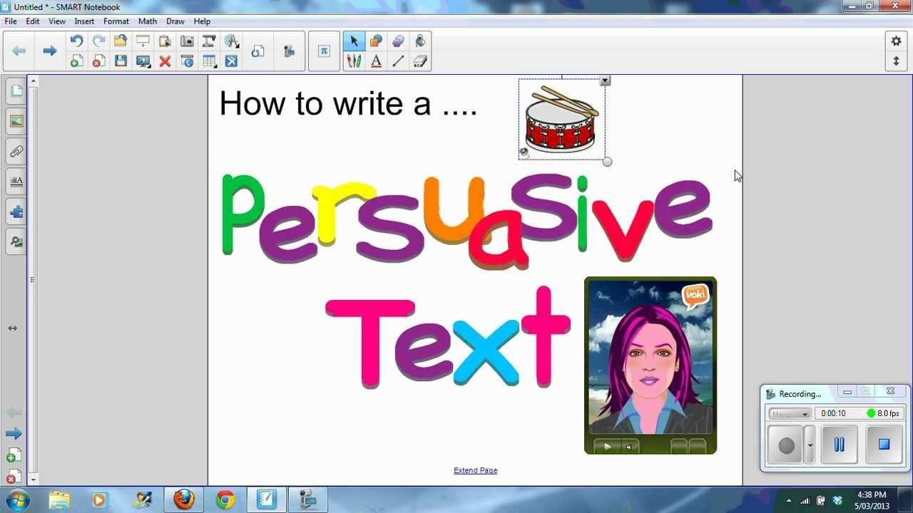how to end our persuasive text