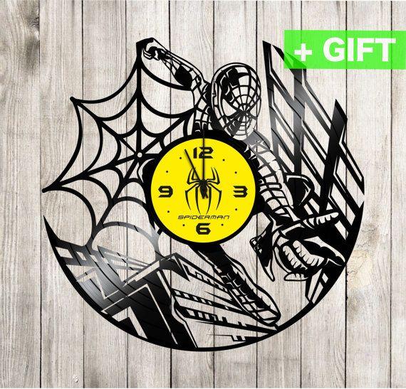 Spiderman gift clock vinyl S-Interiors Spiderman by SInteriorsShop ...