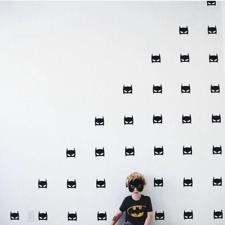 Ins儿童房黑色进口pvc墙贴蝙蝠侠贴纸欧美宝宝房装饰背景墙可批发 淘宝