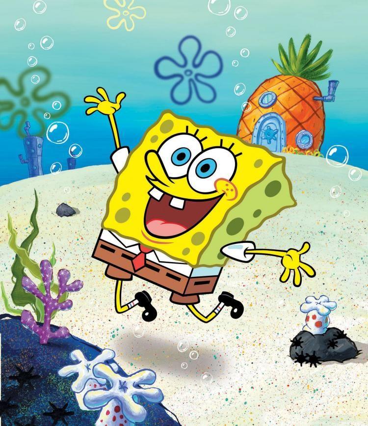 Add A Fun Mural To Any Kids Room Spongebob Wallpaper Spongebob Squarepants Spongebob
