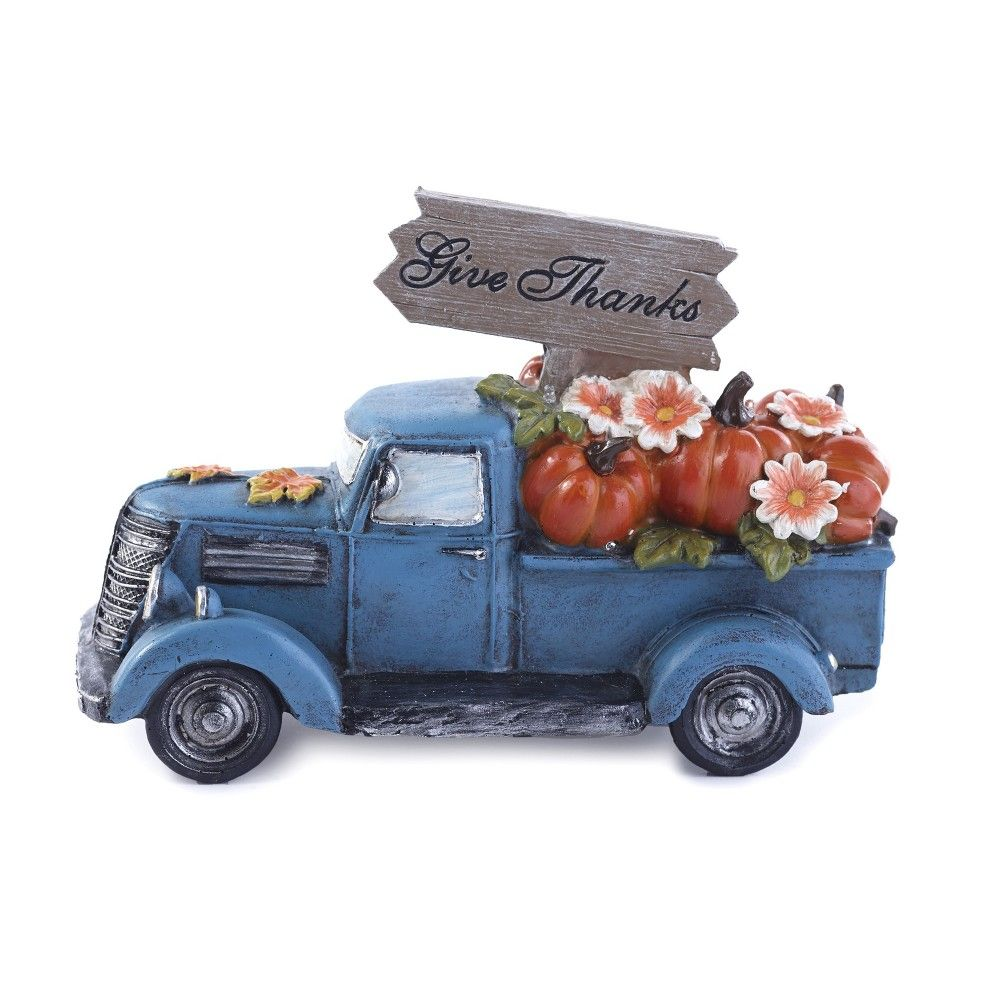 Lakeside Harvest Lighted Pickup Truck With Pumpkins In Rear Bed Give Thanks In 2021 Christmas Red Truck Red Truck Decor Red Truck