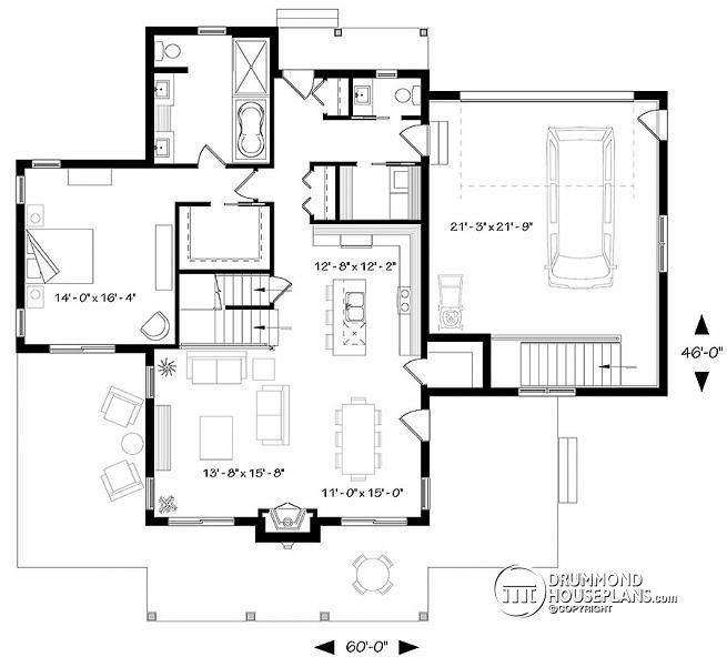 Discover The Plan 3914 V5 Louisia 6 Which Will Please You For Its 3 Bedrooms And For Its Cottage Chalet Cabin Styles House Plans Lake House Plans Cottage Plan
