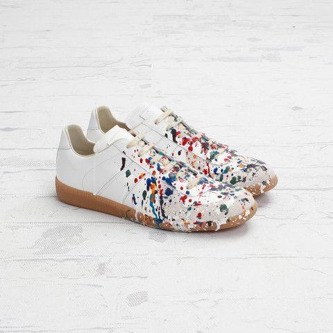 best cheap a9baf 5b52d Maison Martin Margiela Low Top Paint Splatter Sneaker