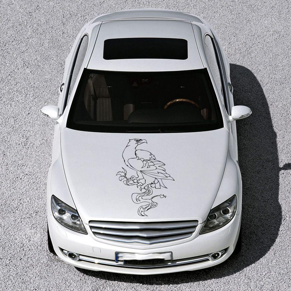 ANIMAL EAGLE BIRD WINGS DESIGN HOOD CAR VINYL STICKER DECALS ART MURALS SV1468