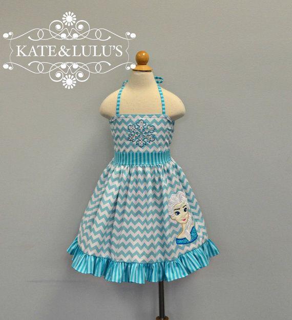 Girls Frozen Elsa dress  Ice Princess Dress  Elsa by KateandLulus, $40.00