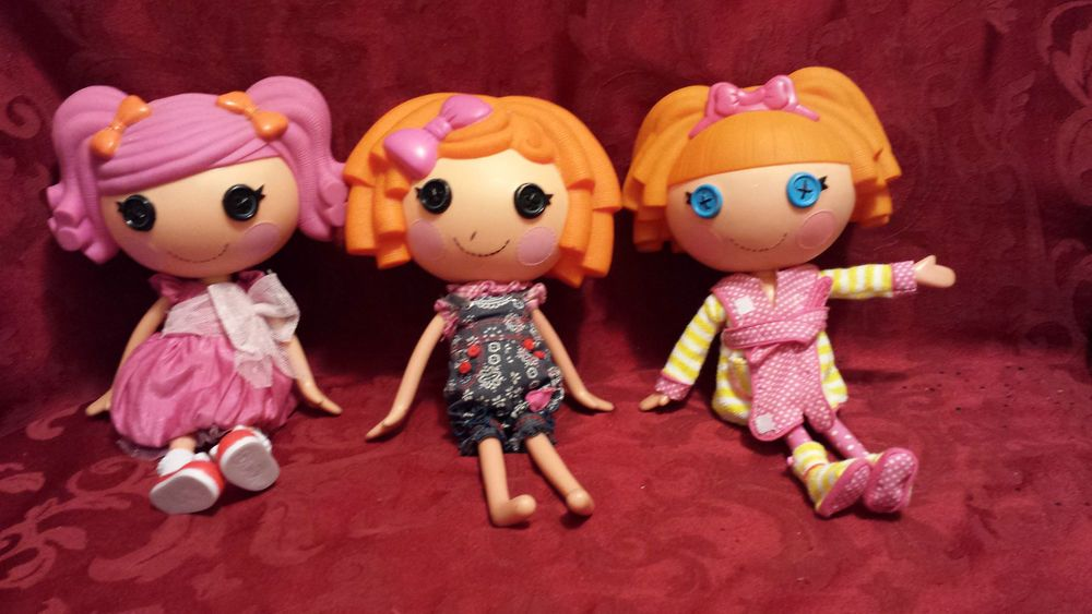 Three Lalaloopsy Large Dolls Bea Spells A Lotpeppasunny Side Up