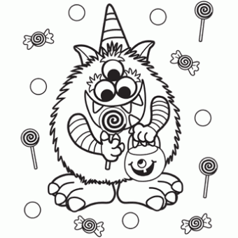 Candy Critter Free N Fun Halloween From Oriental Trading Free Halloween Coloring Pages Monster Coloring Pages Halloween Coloring Pages Printable