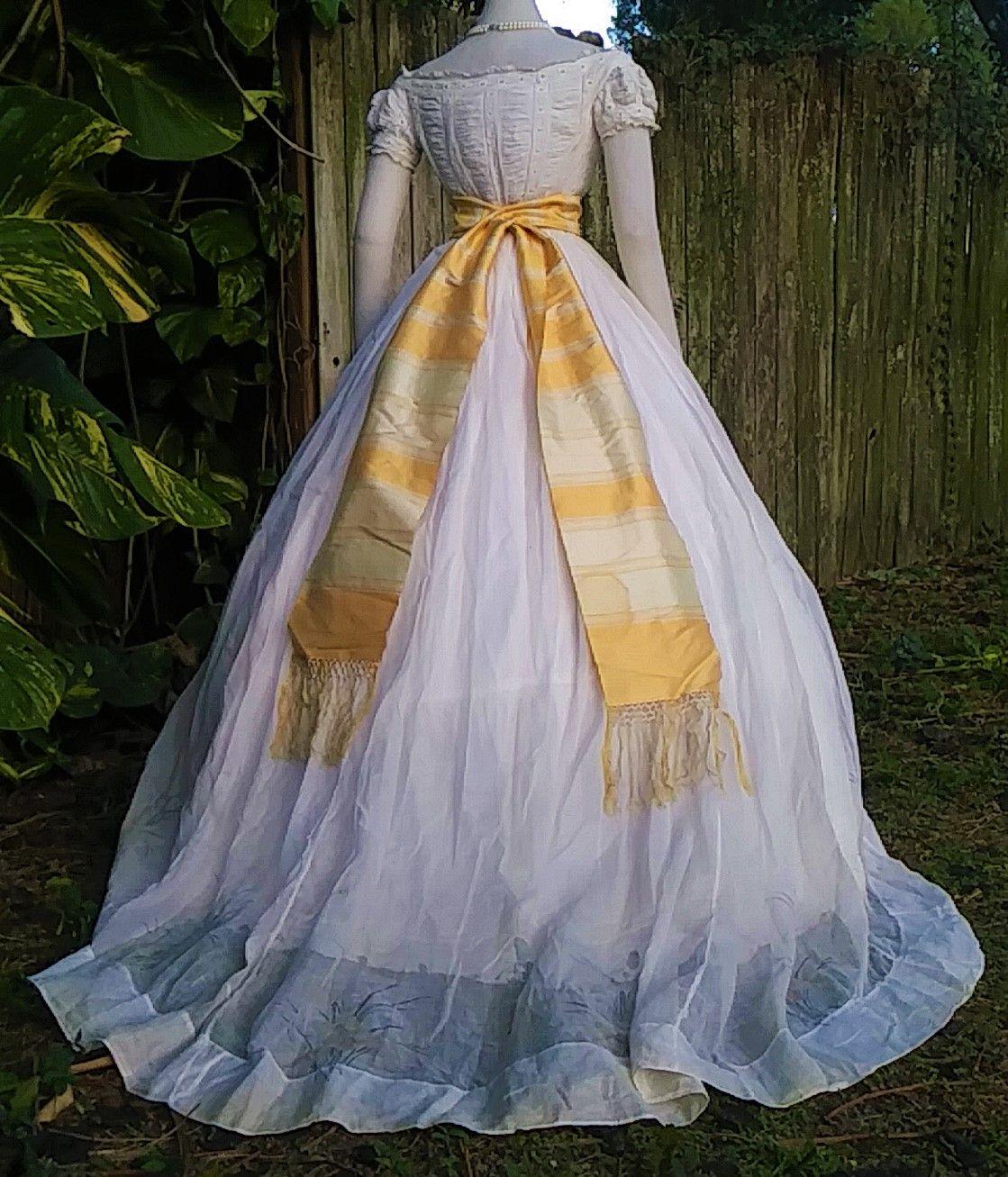 Summer Evening Ensemble C 1865 7 Victorian Dress Dress Collection Dresses [ 1307 x 1119 Pixel ]