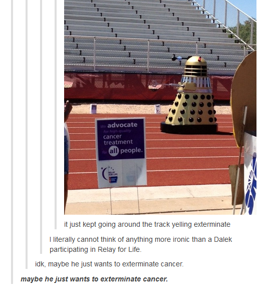 If a Dalek has to exterminate something...