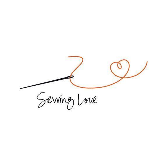 sewing logo, Instant logo, instant logo download, craft logo, sewing needle logo