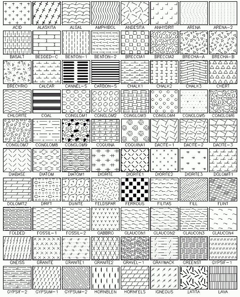Autocad Hatch Patterns Contains 365 Patterns For Autocad Lt