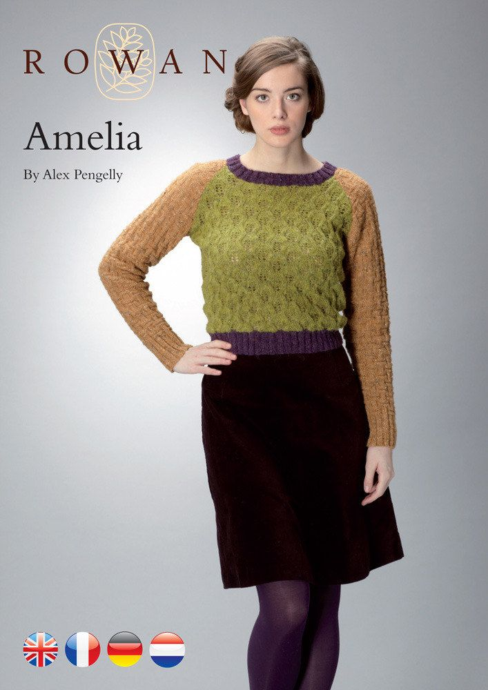 Amelia Sweater Free Knitting Pattern In Rowan Felted Tweed Dk Get