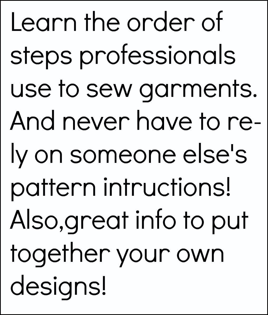 Order of garment construction.
