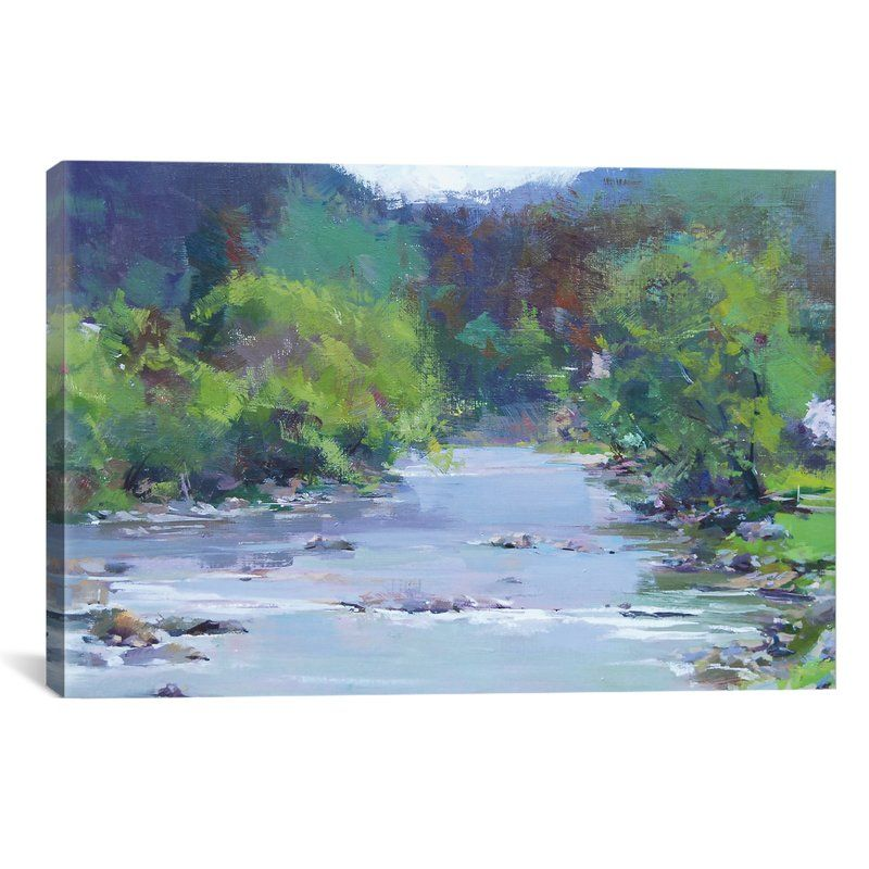 The White River Painting Print On Wrapped Canvas River Painting Canvas Art Prints Painting Prints