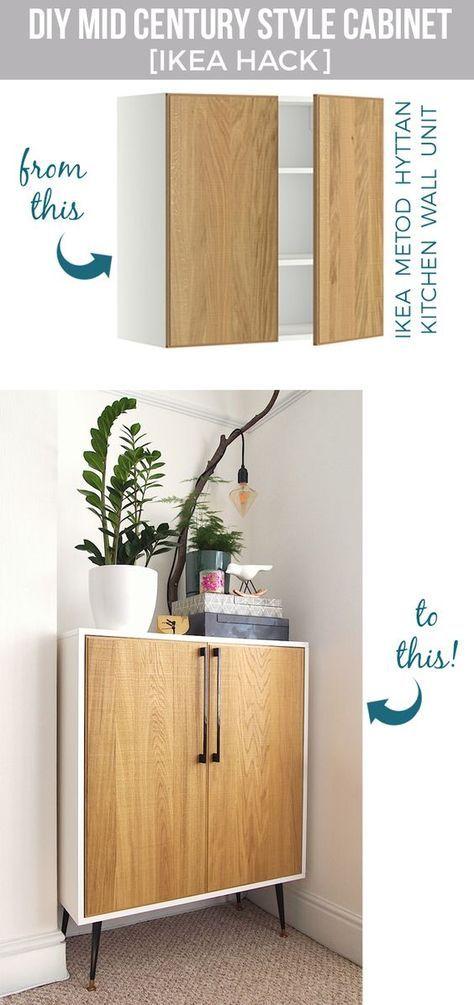 DIY  fabriquer un meuble cabinet de style avec un placard de cuisine