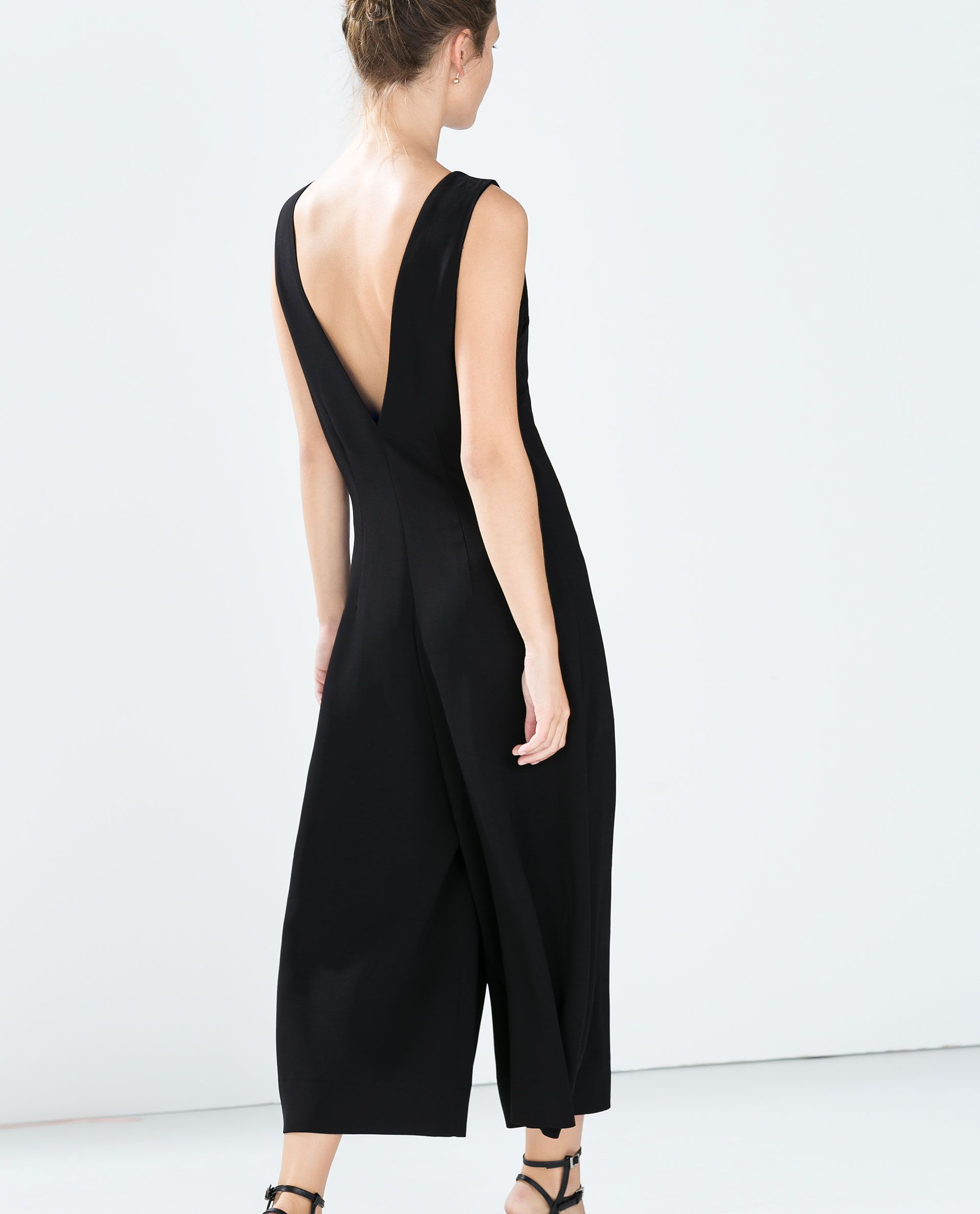 d182abec72b Image 5 of V-NECK PLEAT JUMPSUIT from Zara