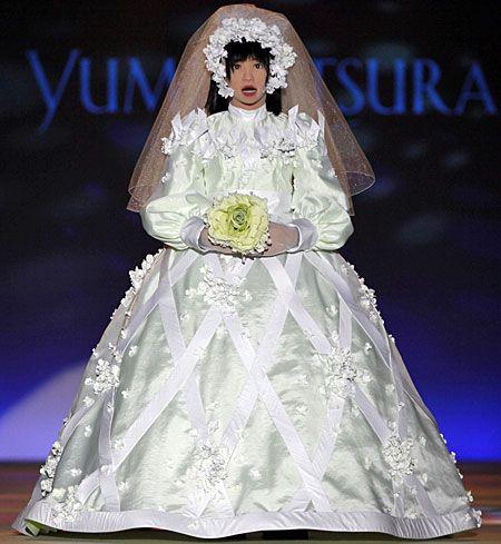 Japanese designer Yumi Katsura Combines HRP-4C robot & Wedding Dress ...