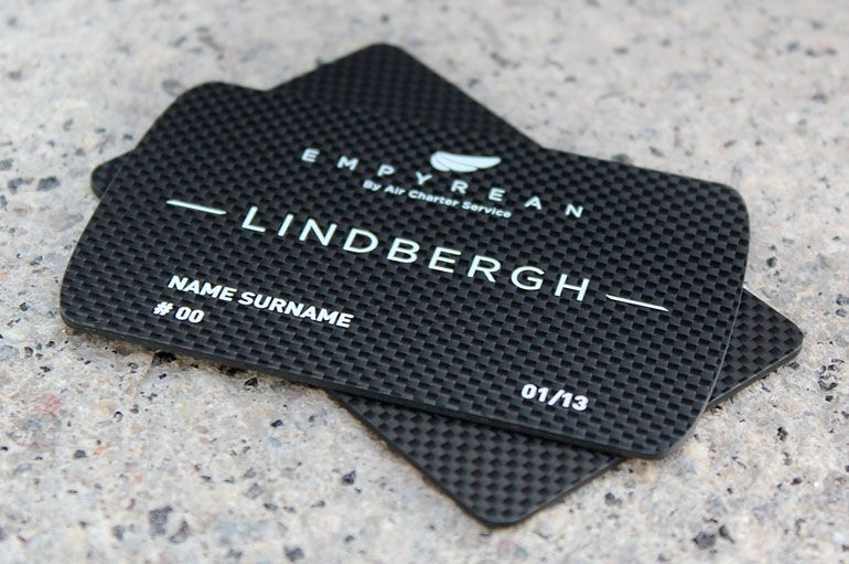 The lindbergh card business cards carbon fibre business cards and mens accessories reheart Choice Image