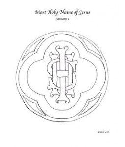 Holy Name Of Jesus Catholic Coloring Page January 3rd Catholic