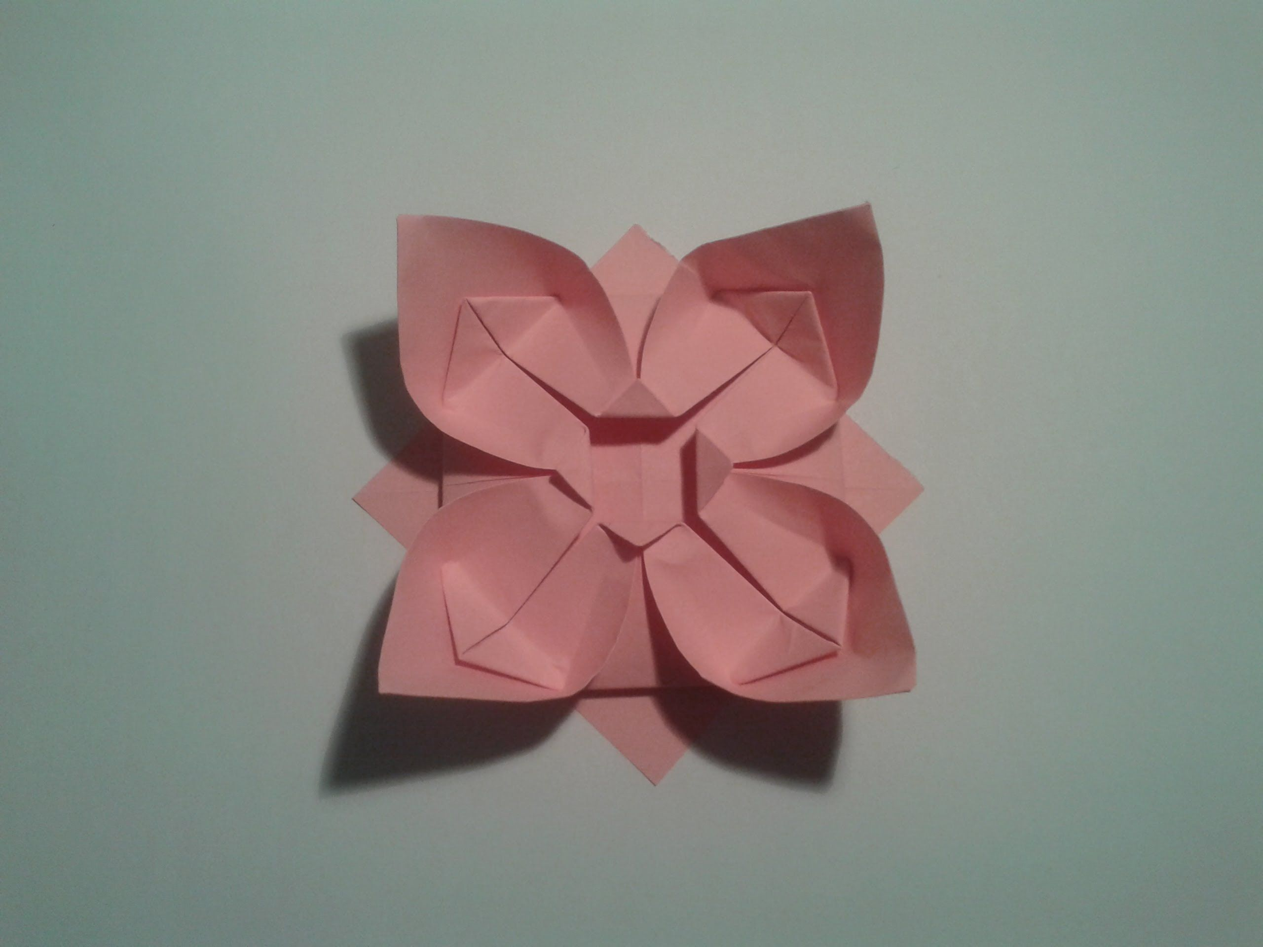 How to make an easy origami flower | origami | Pinterest ... - photo#21