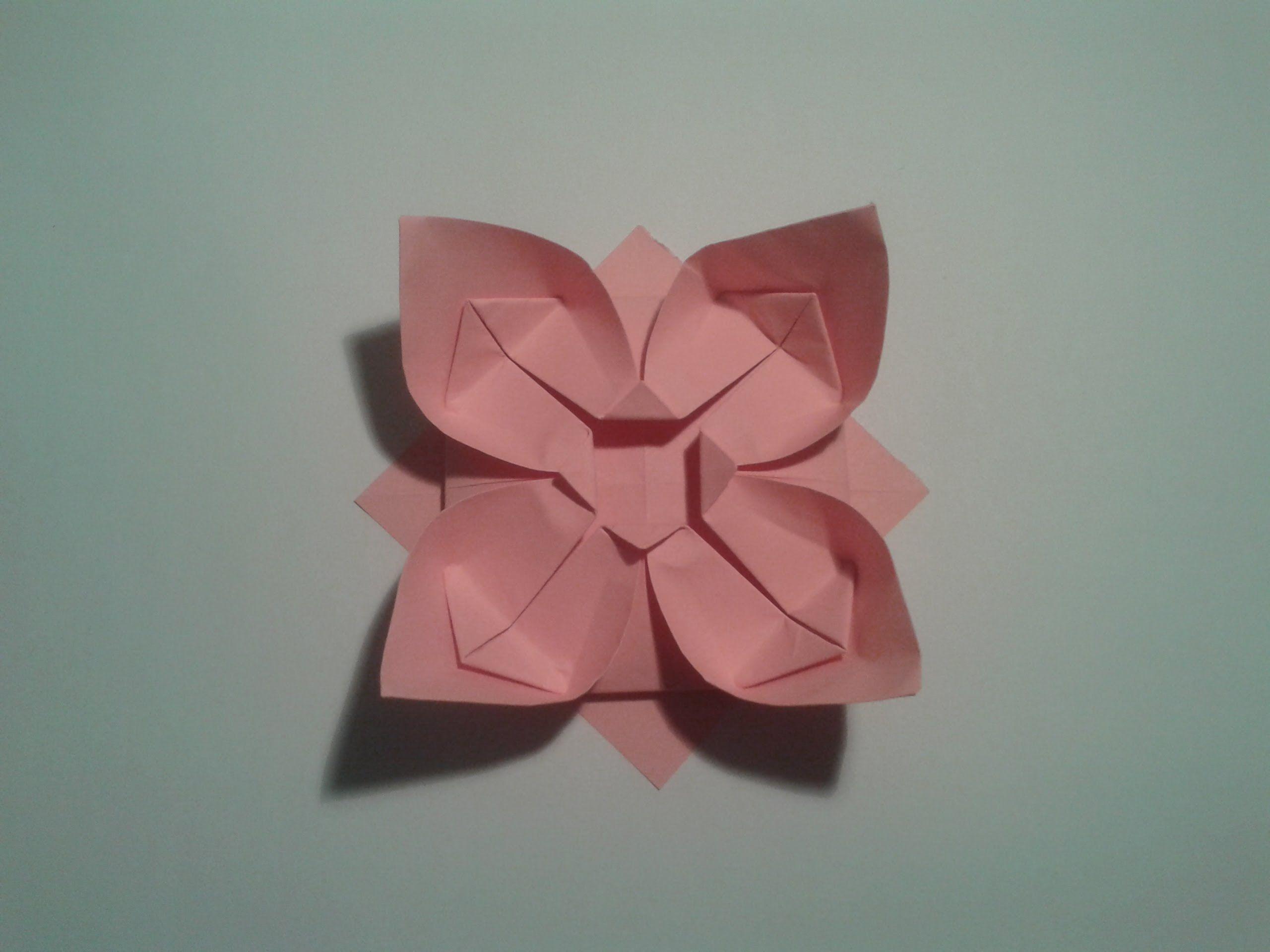 How To Make An Easy Origami Flower Pinterest Easy Origami