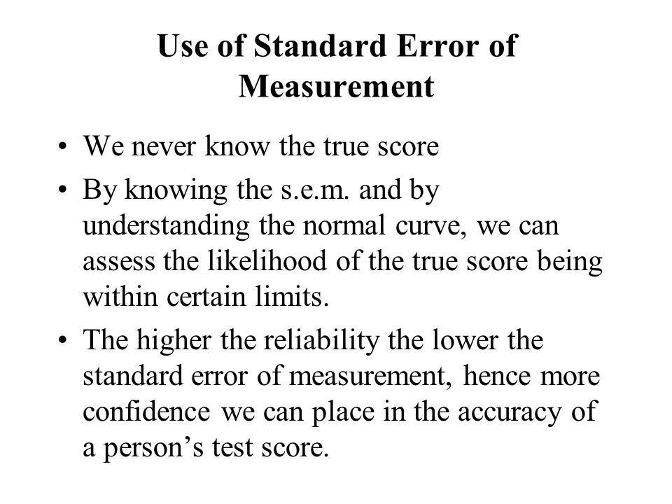Standard Error of Measurement: Statistics Snippet for