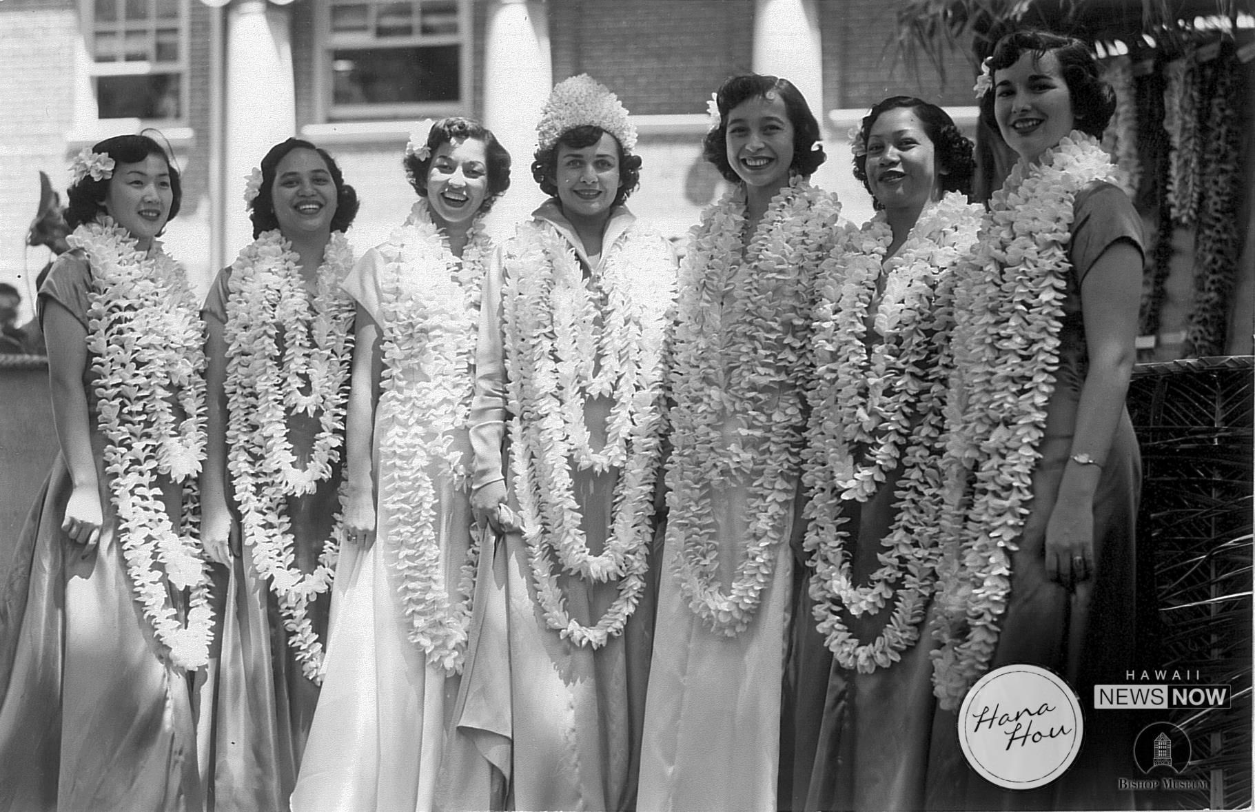 Lei Day in Hawaii in the 50's