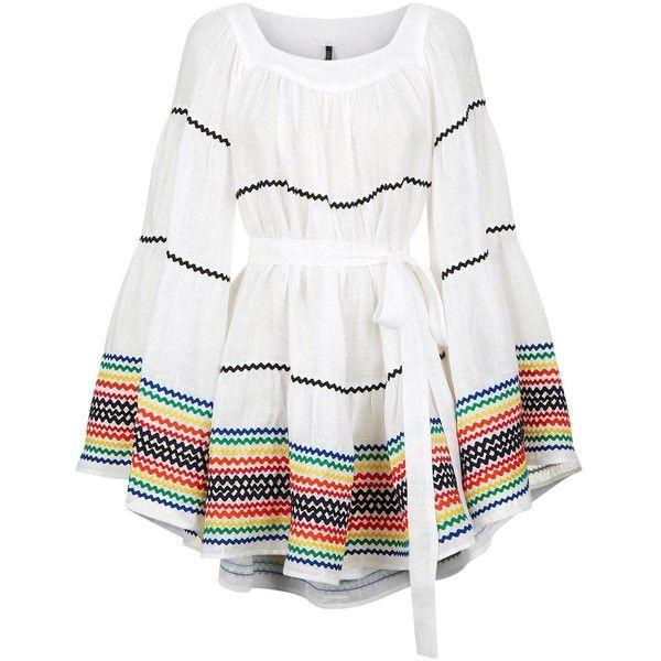 a7439c4b9e Lisa Marie Fernandez Ric Rac Linen Peasant Dress ( 1