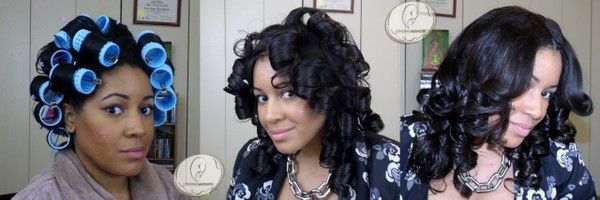 Black Hair Roller Set Styles: How To Roller Set Weave (Sew-In)