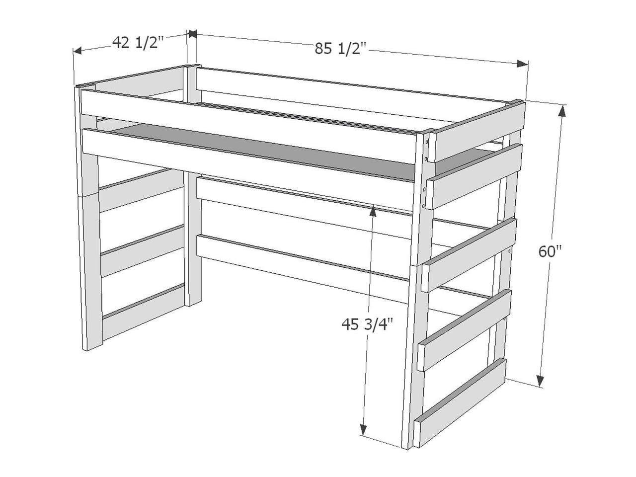 Dimensions Of Loft Bed L212 Loft Bed Loft Bed Plans Twin Loft Bed