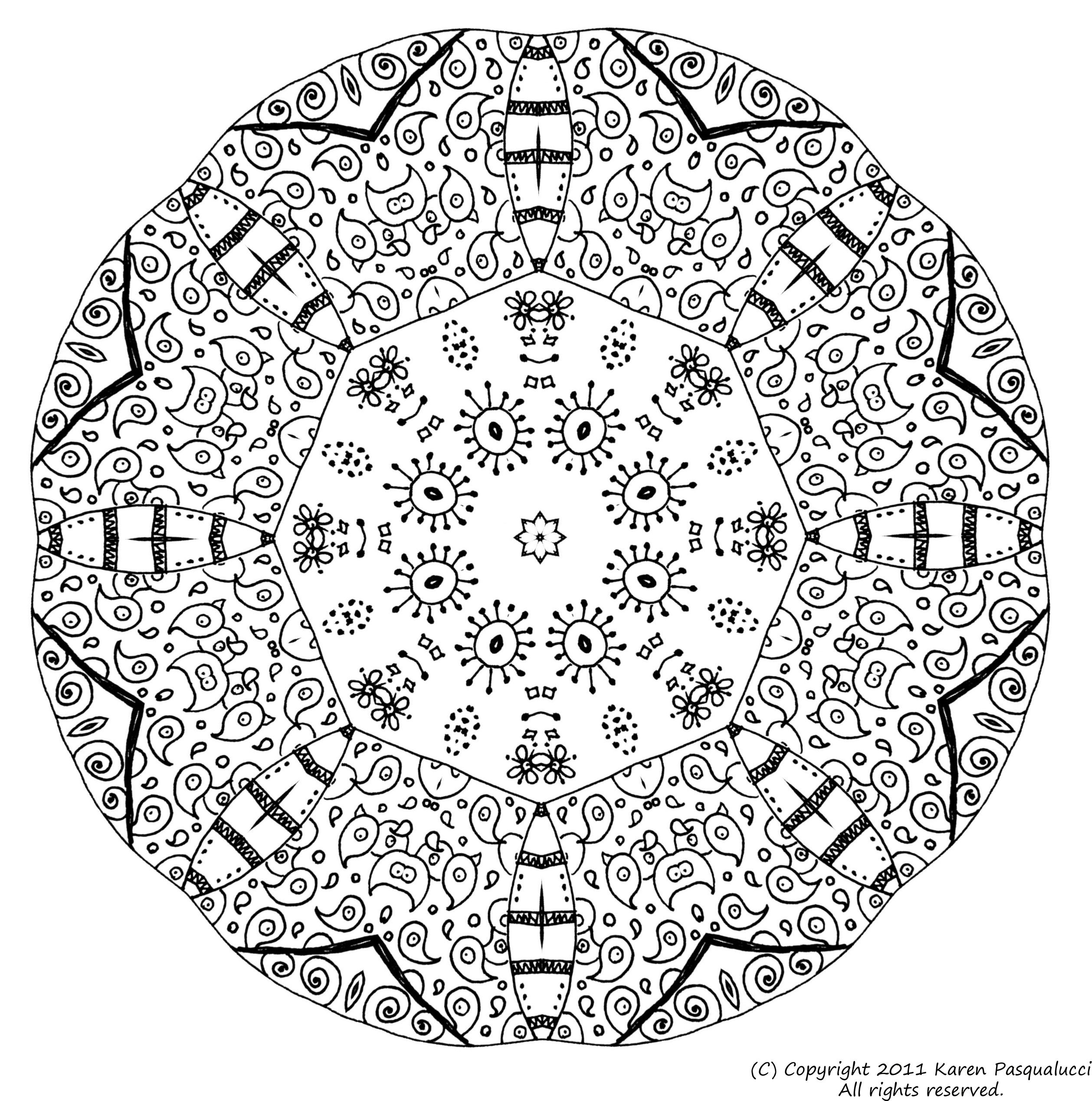 Detailed Coloring Pages For Adults | giftsix | Stress ...Detailed Mandala Coloring Pages For Adults