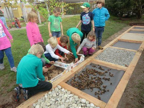 Siemensprojekt Naturspielplatz Outdoor Spielplatz Kinder Garten