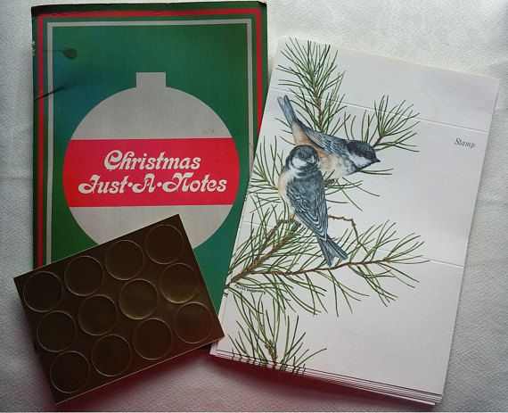 The listing is for a folder of 12 fold-over note cards with seals