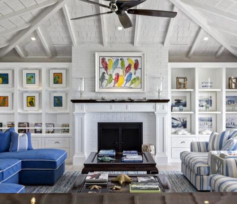 Bold Wall Designs In A Florida Beach House Cottage Living Rooms Beach Cottage Style Living Room Trendy Living Rooms