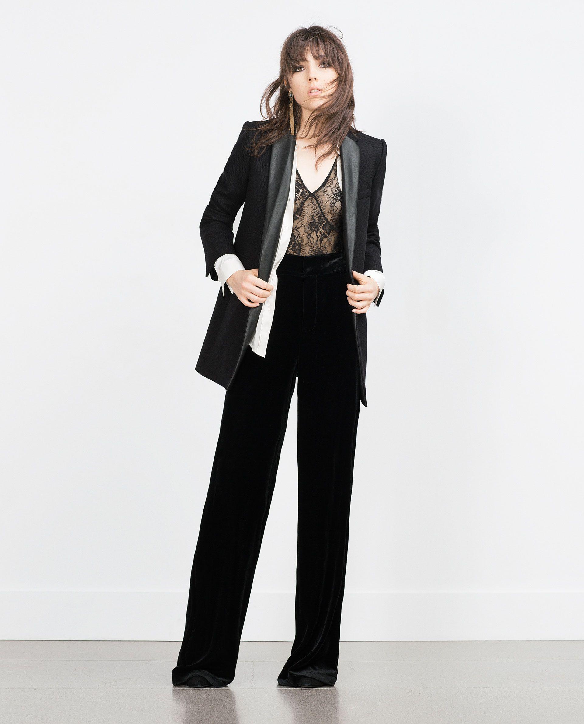 COMBINED LAPEL COAT - Jackets - WOMAN - PROMOCIJA | ZARA Romania