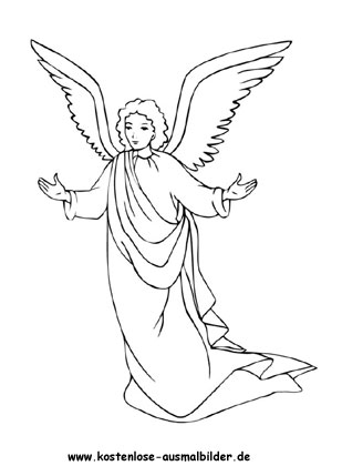 Ausmalbild Engel Engel Zum Ausmalen Engel Zeichnung Engel Zeichnen
