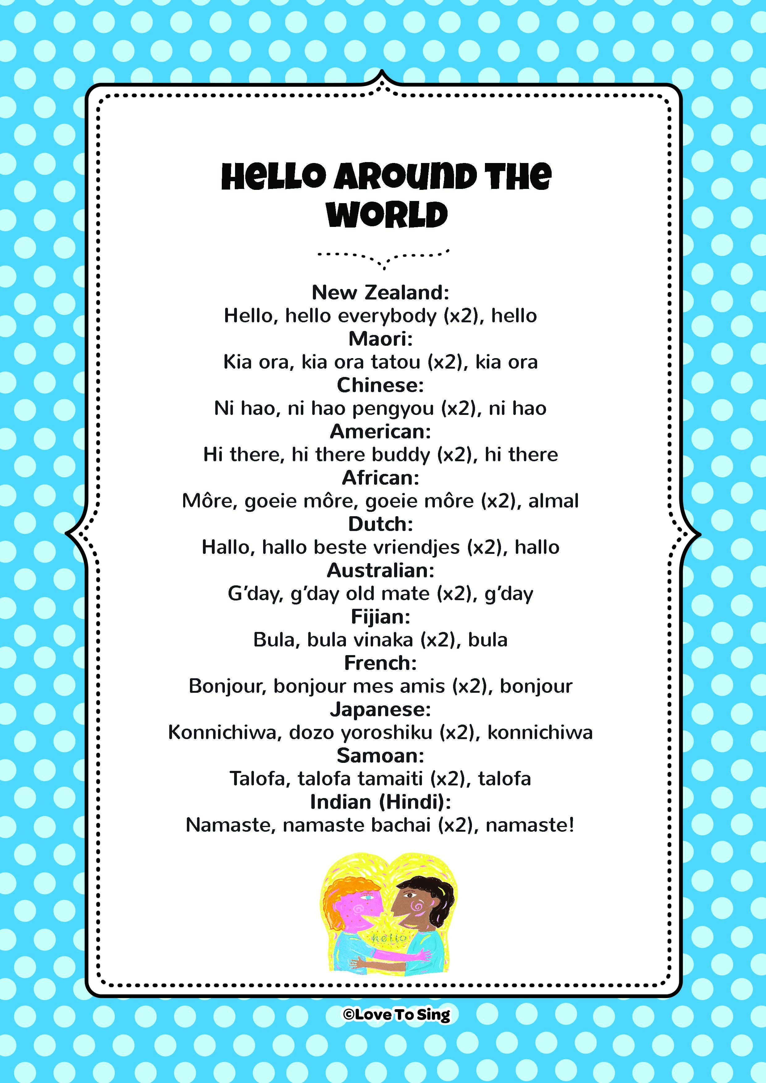 Hello Around The World Hello song for kids, Kids songs