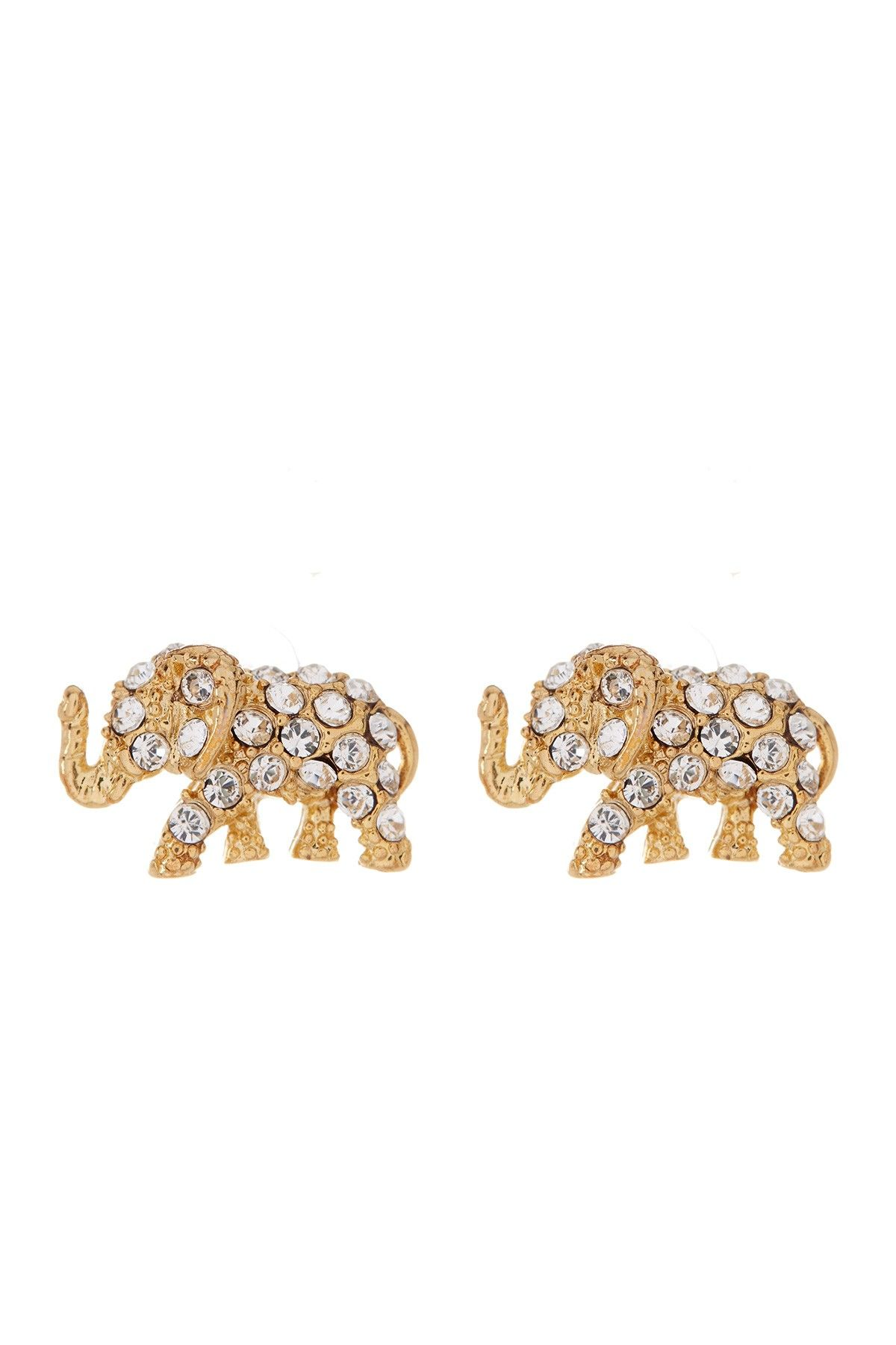 Pave Elephant Stud Earrings By Kate Spade New York On Nordstrom Rack Earringsnordstrom Rackelephantkate