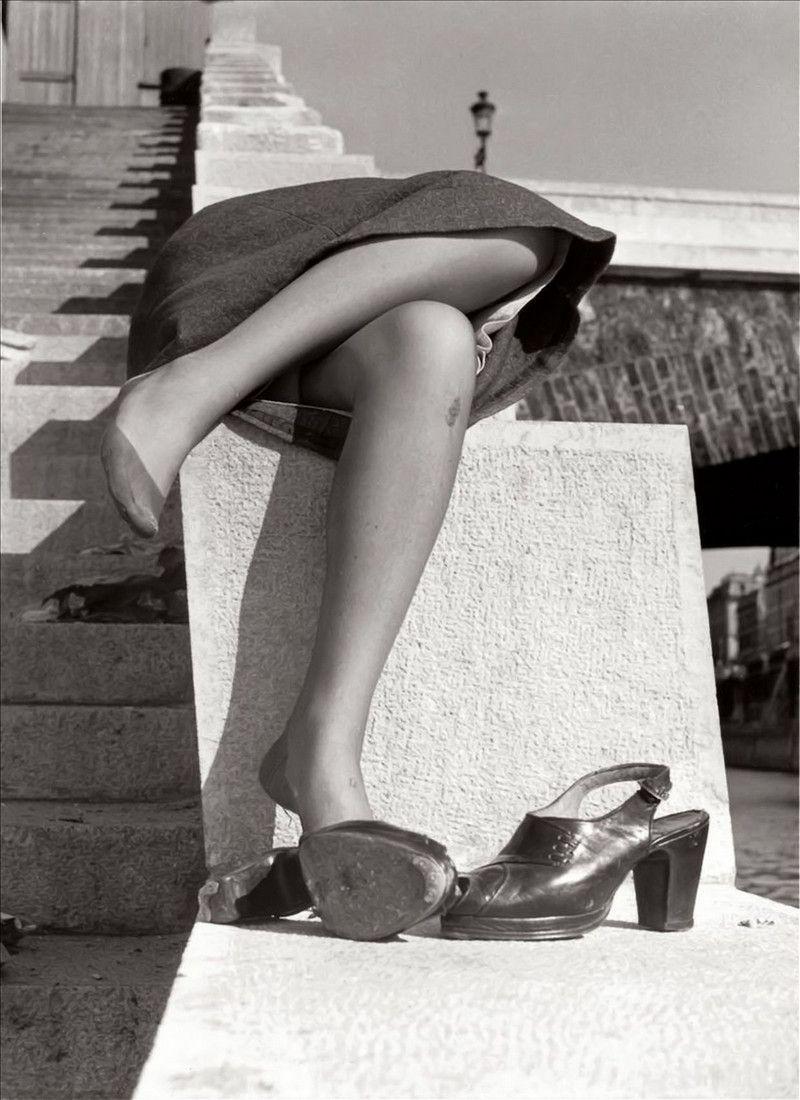 Набережная Сены, Париж, 1950-е. Фотограф Изис Бидерманас